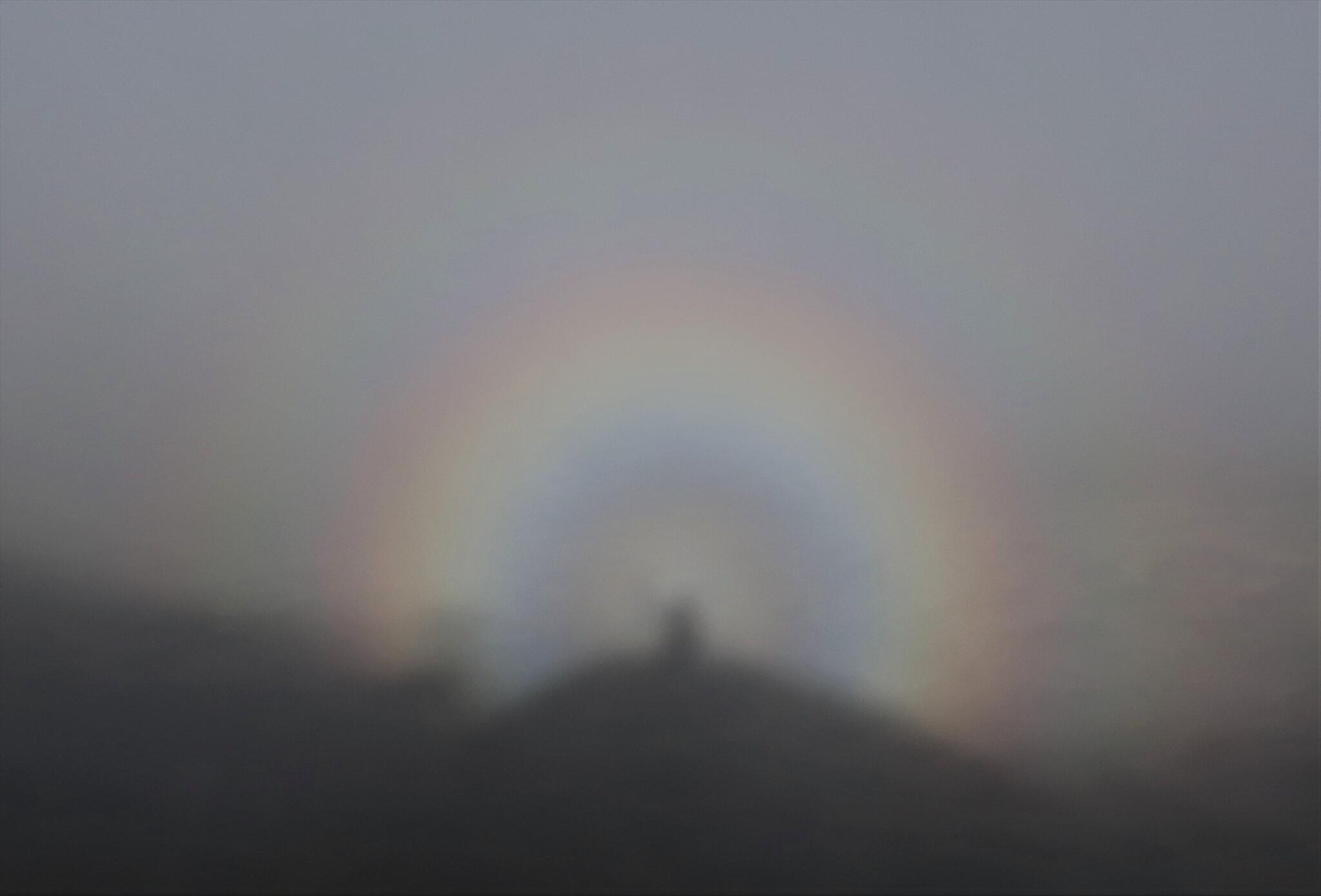玉置さんが磐梯山に登ったときに撮影した「ブロッケンの妖怪」