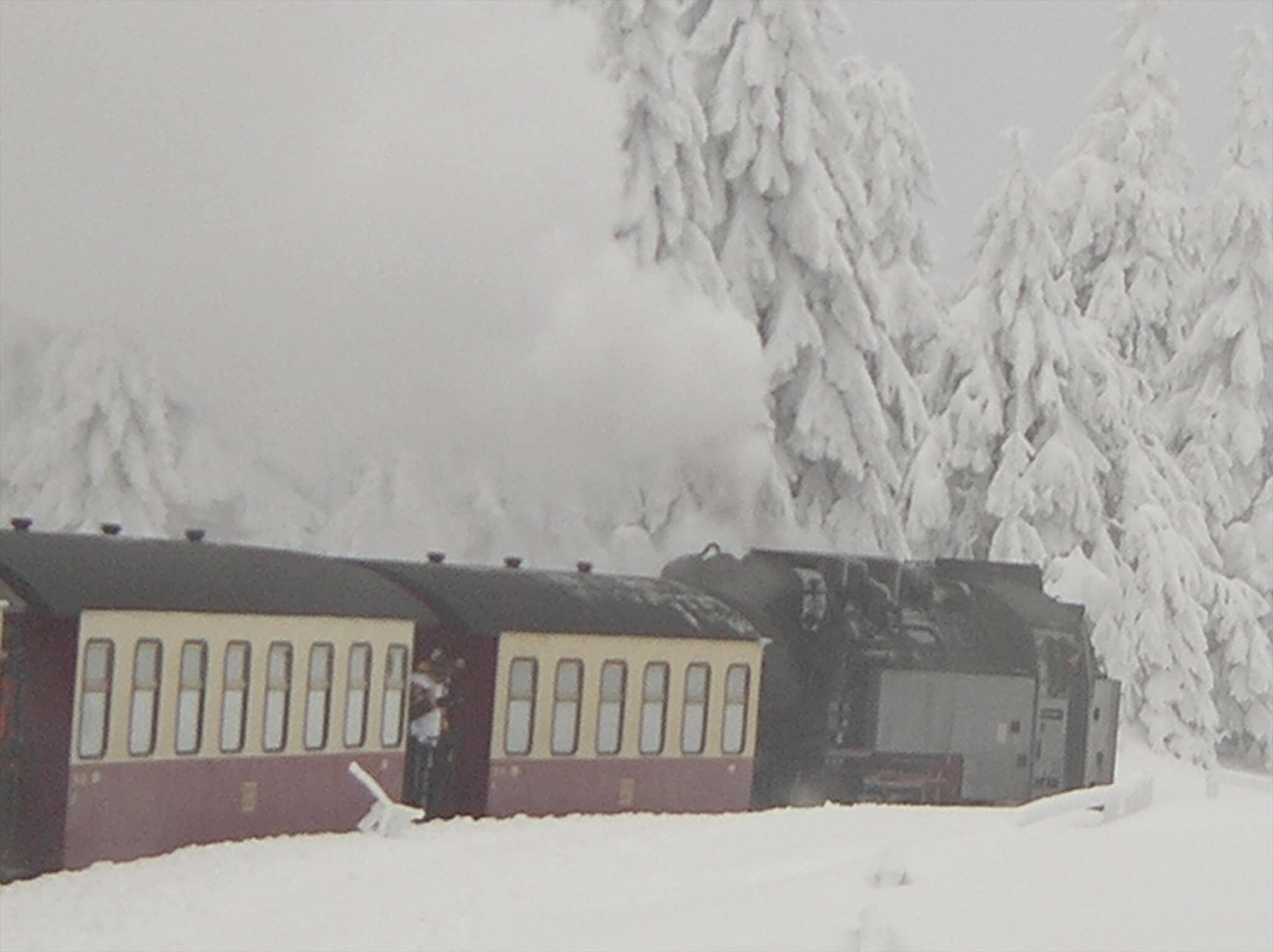 ブロッケン山の山頂まで走るSL列車