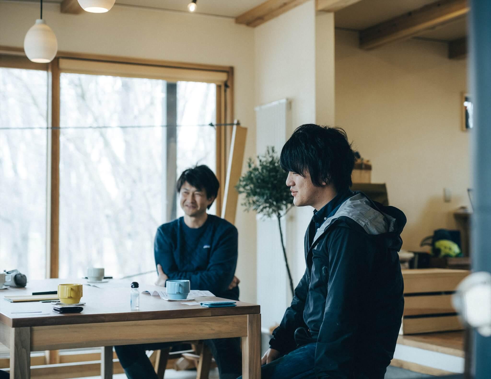 株式会社やまとわの中村さんと奥田さんを取材中