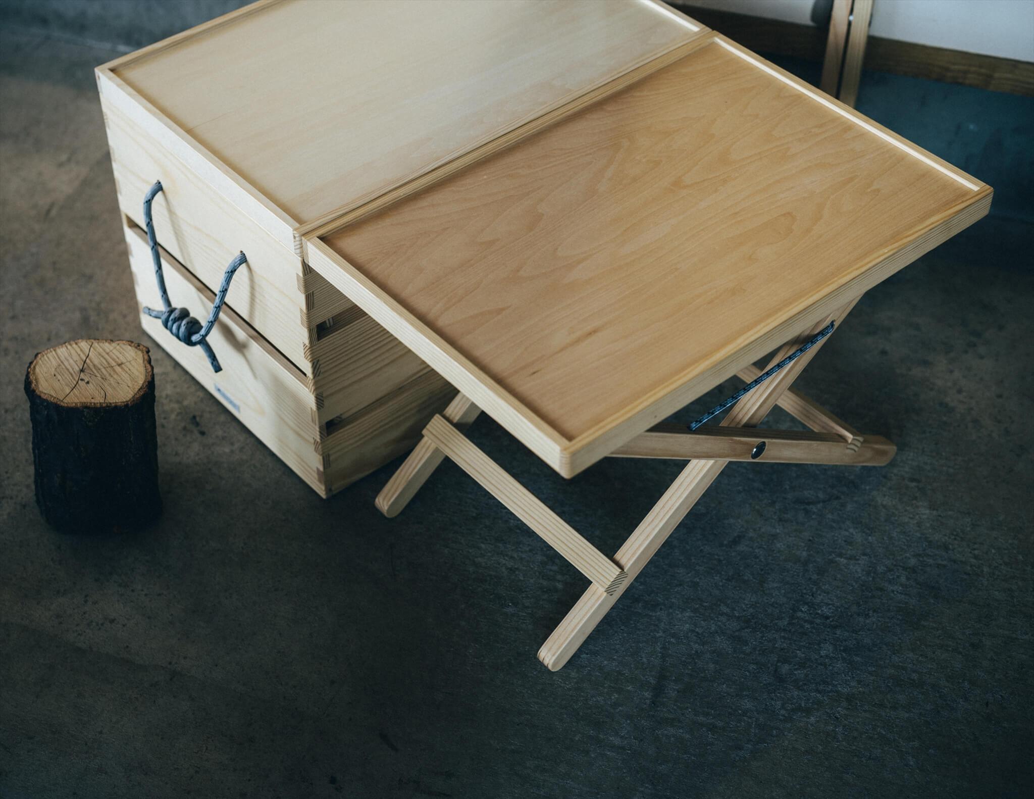 パイオニアプランツの折りたたみの机