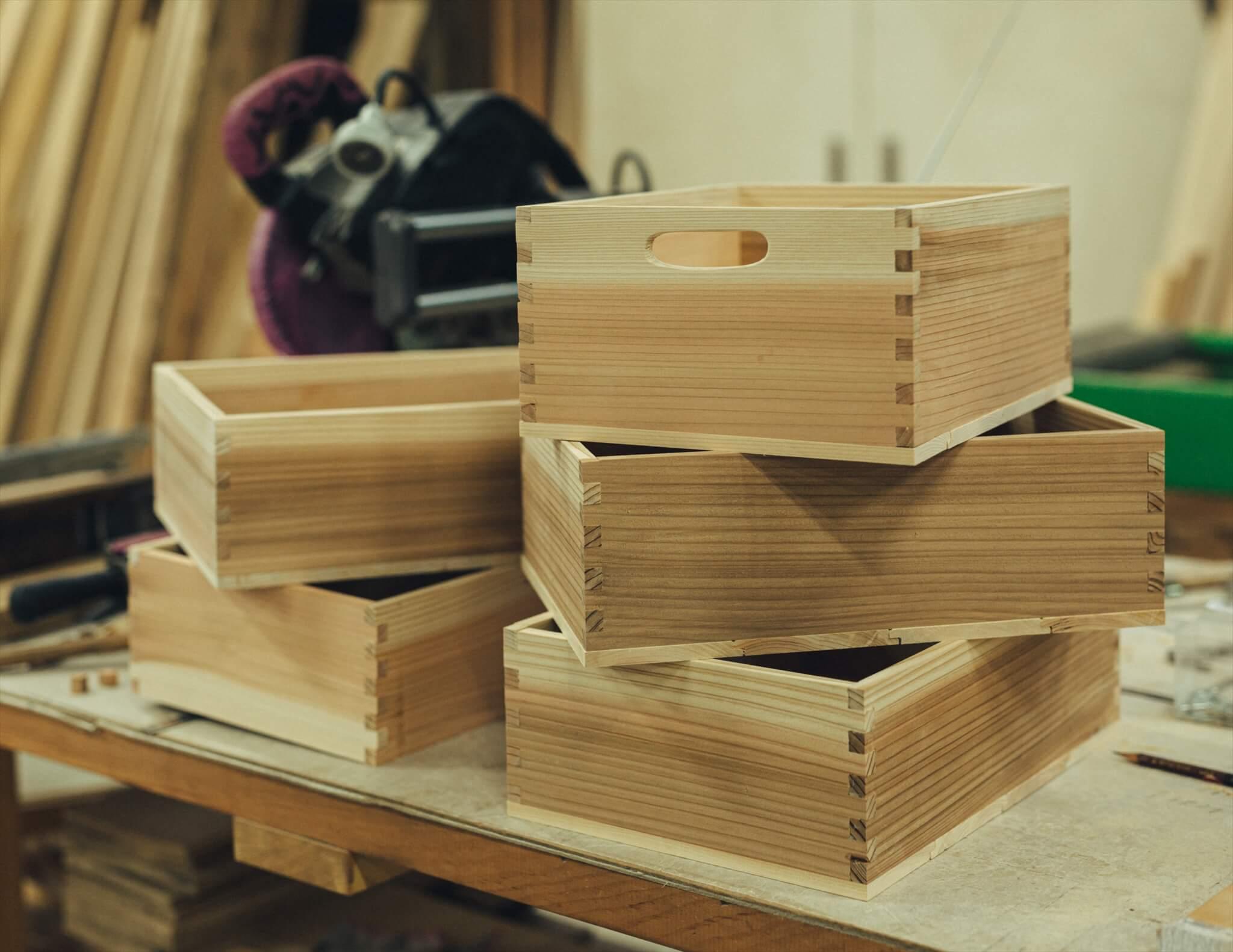 木箱,飛騨高山産木材,手づくり,林業