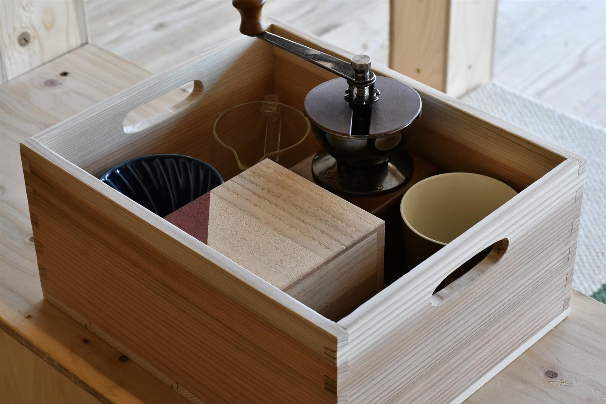 木箱を収納ボックスに