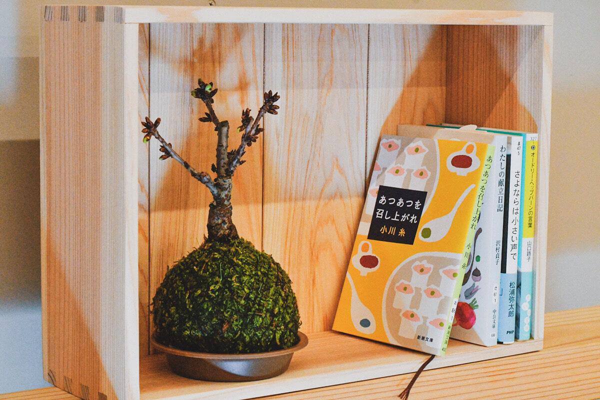 木箱を本棚に