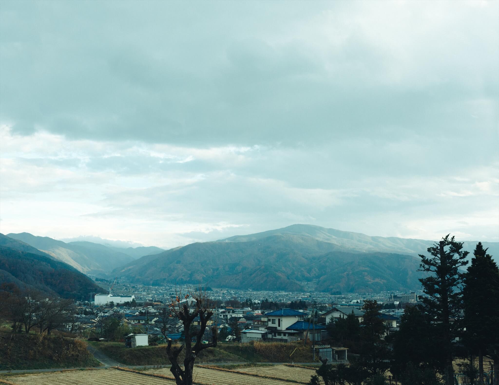 長野県松本市の遠景