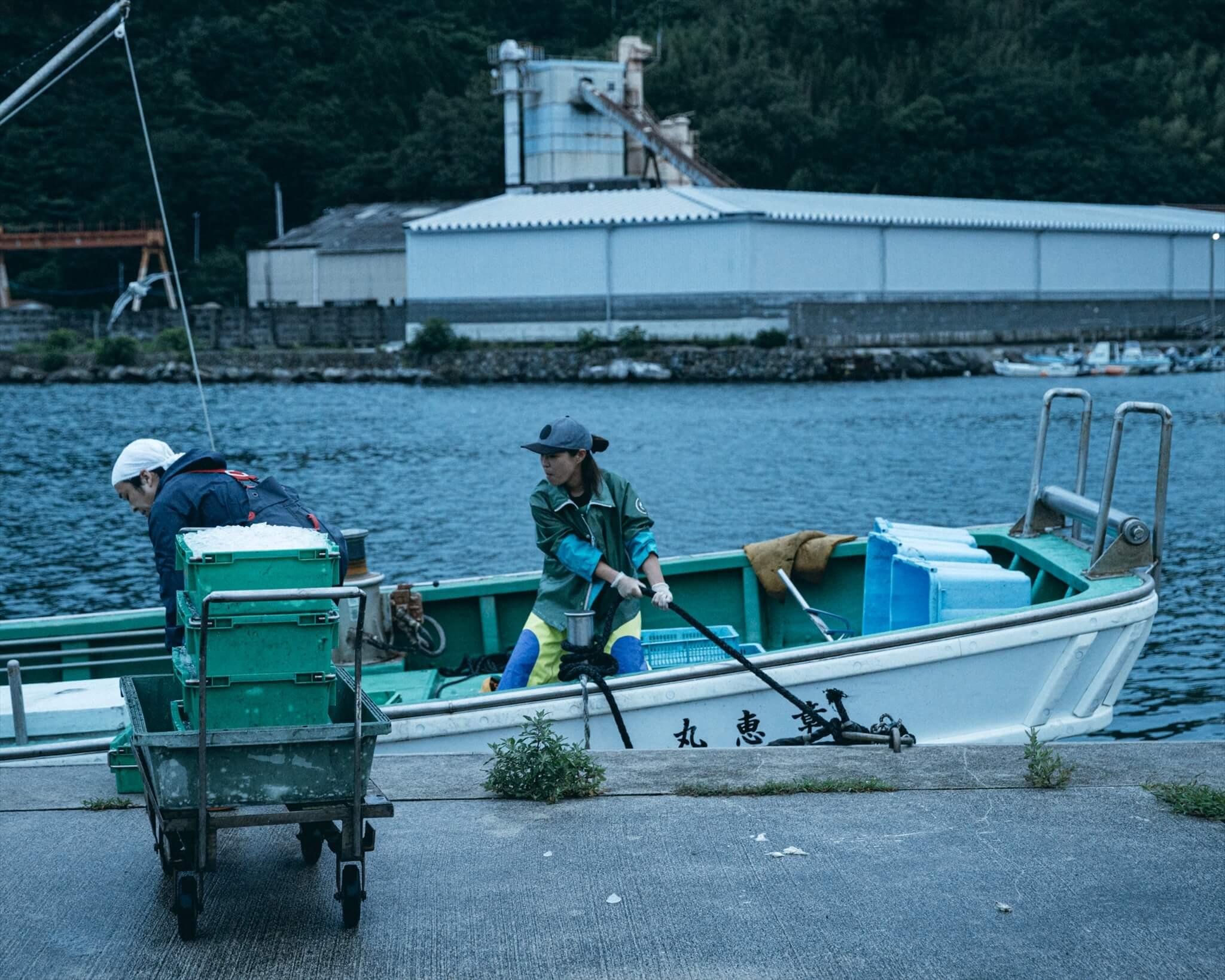 阿武町の定置網漁。いざ出発!