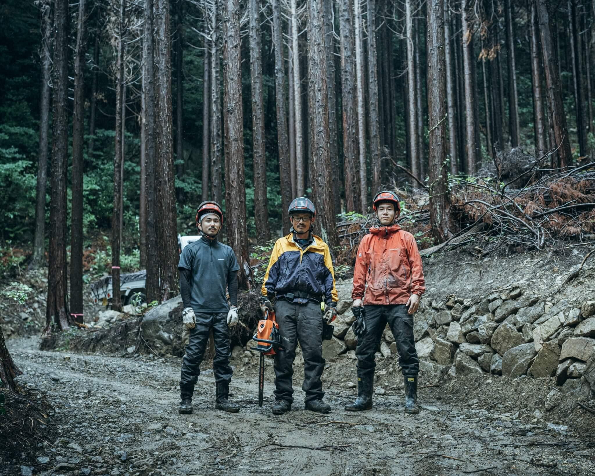 阿武町で自伐型林業に取り組む3人