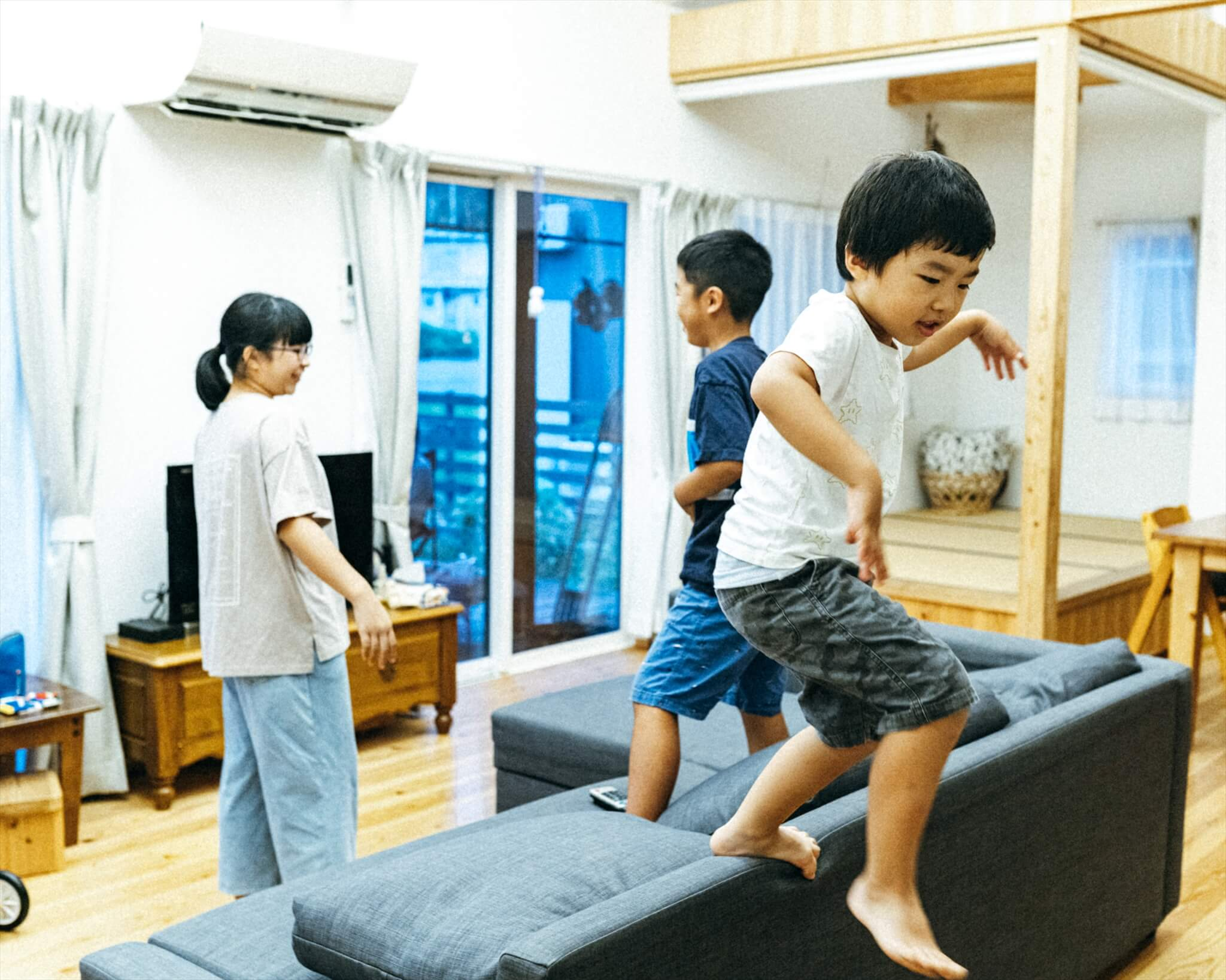 阿武町に移住してきた矢田家の子どもたち