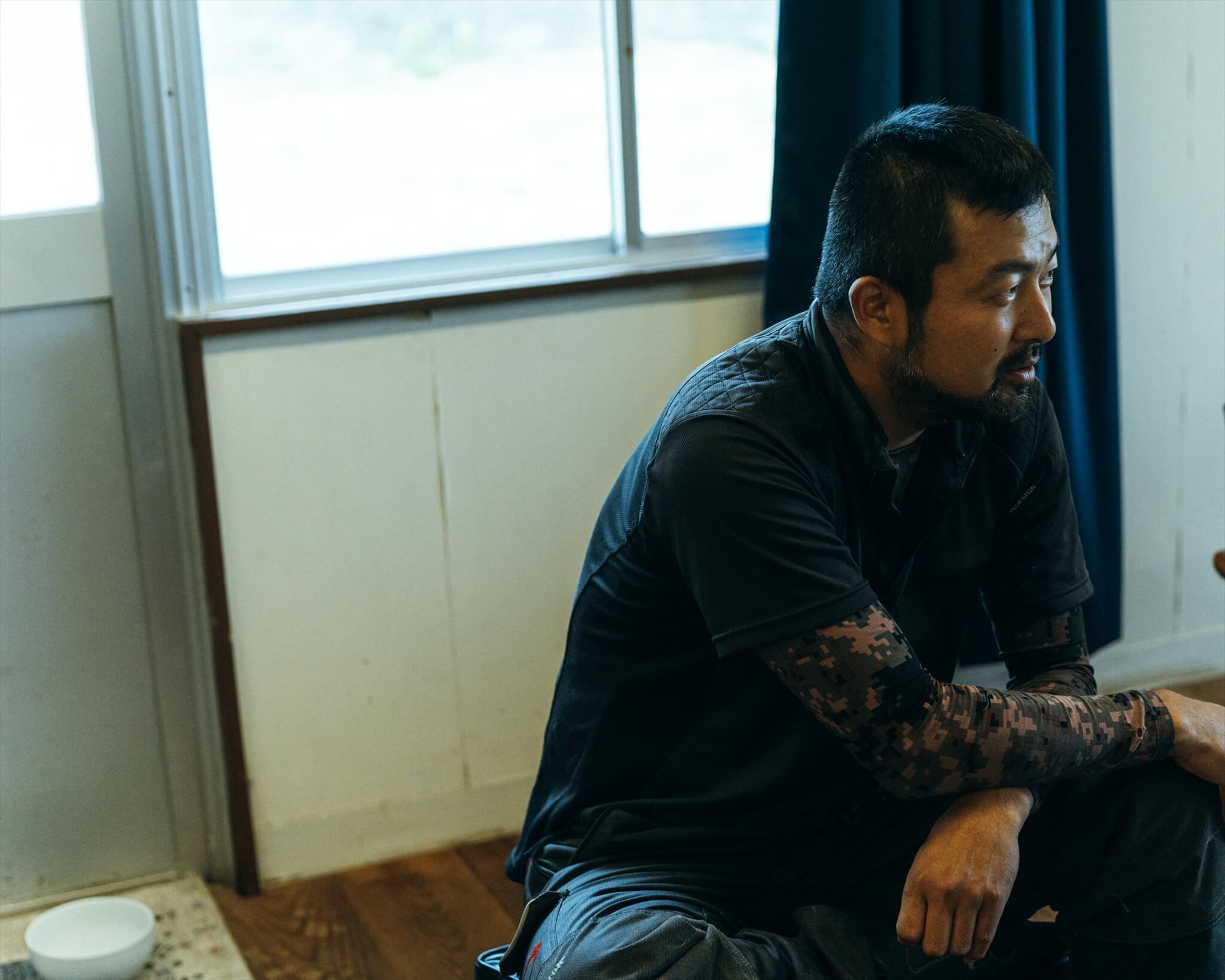 阿武町の地域プロデューサー的存在である田口壽洋さん。自伐型林業を推進中。